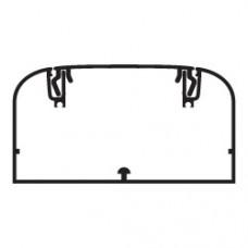 Кабель-канал алюминиевый 110х50мм (с 1 крышкой), цвет белый
