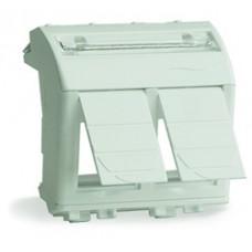 Адаптер для 2 информационных разъемов  Systimax, белый, 2мод.