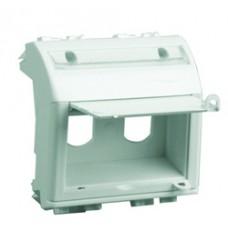 Адаптер для 2-х оптоволоконных разъемов типа ST, белый, 2мод.
