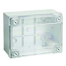 Коробки ответвительные с гладкими стенками и низкой прозрачной крышкой, 190х140х70 мм