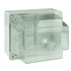 Коробки ответвительные с гладкими стенками и высокой  прозрачной крышкой, IP56, 150х110х135 мм
