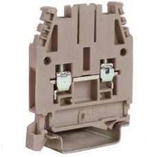 CBC.10GR, проходной зажим серый 1000V, 57A 10 мм