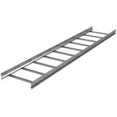 Лоток лестничный 100х200, лонжерон 1,5 мм, L 6 м